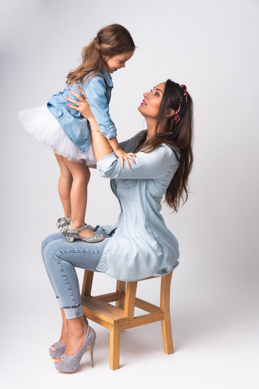 Moeder en dochter model